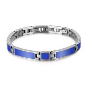 bracelet magnétique étros bleu