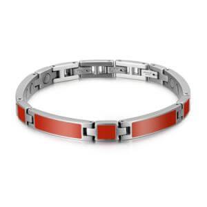 bracelet magnétique étros rouge