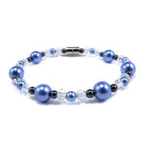 bracelet magnétique hématite et perles bicolores
