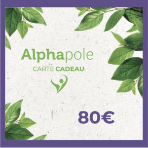 Carte Cadeau 80 Euros Alphapole